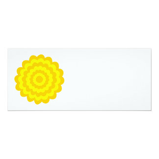 Sunny yellow flower. 10 cm x 24 cm invitation card
