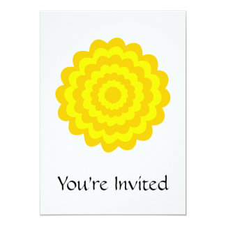 Sunny yellow flower. 13 cm x 18 cm invitation card