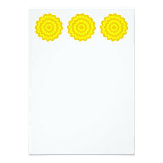 Sunny yellow flower. personalized invites