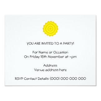 Sunny yellow flower. invite