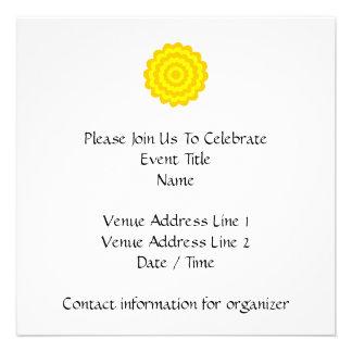 Sunny yellow flower custom announcements