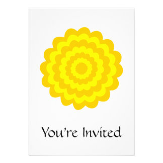 Sunny yellow flower personalized invitation