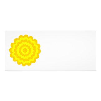 Sunny yellow flower custom invitations