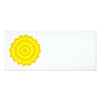 Sunny yellow flower. custom invitations