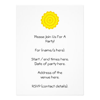 Sunny yellow flower personalized announcement
