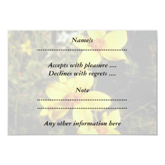 Sunny Yellow Flowers. Bidens. 9 Cm X 13 Cm Invitation Card