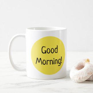 Sunny Yellow Good Morning Typography Coffee Mug