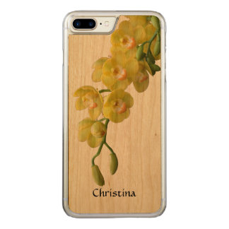 Sunny Yellow Orchid Handmade Custom Friendship Carved iPhone 8 Plus/7 Plus Case