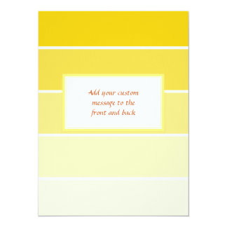 Sunny Yellow Paint Samples 14 Cm X 19 Cm Invitation Card