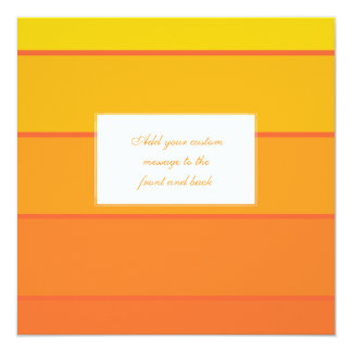 """Sunny Yellow Paint Samples 5.25"""" Square Invitation Card"""