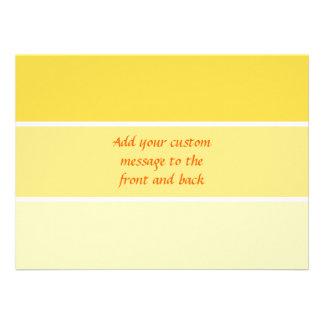 Sunny Yellow Paint Samples Invitations