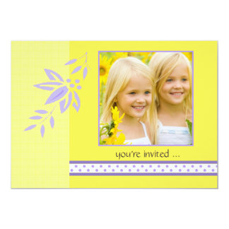 Sunny Yellow Photo Birthday Party Invitation