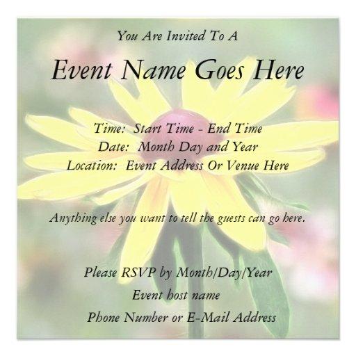 Sunny Yellow Rudbeckia Invite