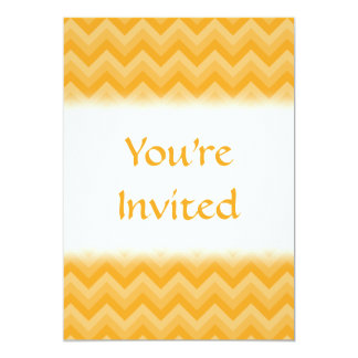 Sunny Yellow Zig Zag Pattern. 13 Cm X 18 Cm Invitation Card