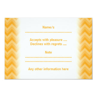 Sunny Yellow Zig Zag Pattern. 9 Cm X 13 Cm Invitation Card