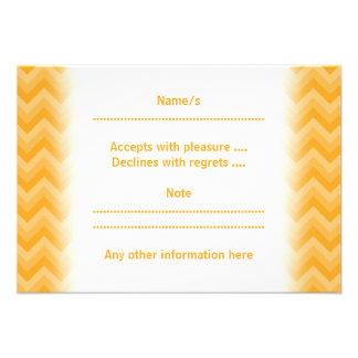 Sunny Yellow Zig Zag Pattern Custom Announcement