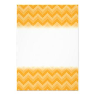 Sunny Yellow Zig Zag Pattern Custom Invitation
