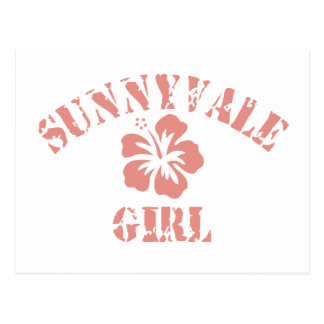 Sunnyvale Pink Girl Postcard