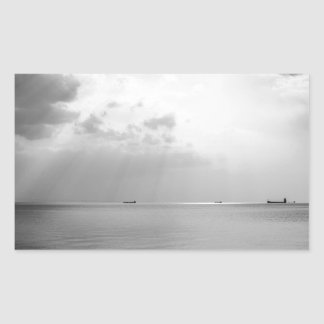 Sunrays scattered by clouds over Trieste Bay Rectangular Sticker