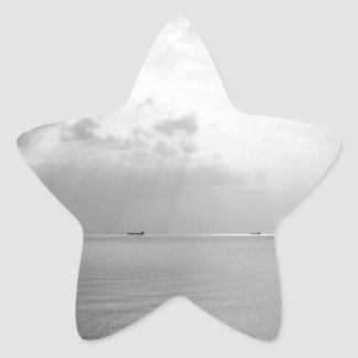 Sunrays scattered by clouds over Trieste Bay Star Sticker