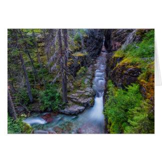 Sunrift Gorge In Glacier National Park, Montana Card