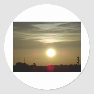Sunrise 9 classic round sticker