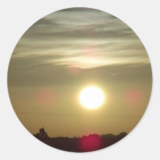 Sunrise 9 classic round sticker