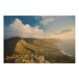 Sunrise Above Camps Bay And Table Mountain Wood Wall Art