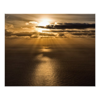Sunrise above the Atlantic ocean Photo
