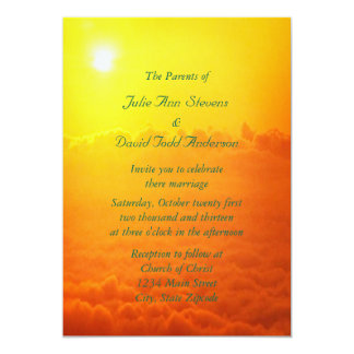 Sunrise Above The Clouds Wedding Personalized Invites