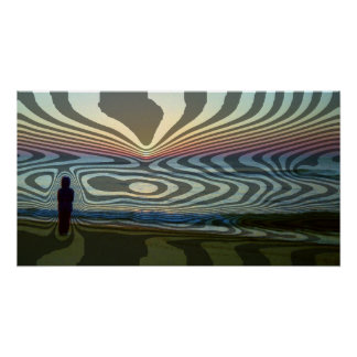 Sunrise Abstract Poster