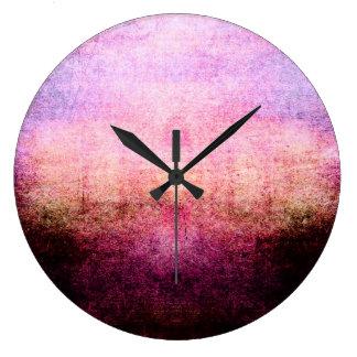 Sunrise Abstract Wall Clock Retro Grunge Vintage