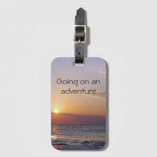 Sunrise Adventure Luggage Tag