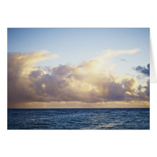 Sunrise and clouds over ocean card