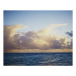 Sunrise and clouds over ocean print