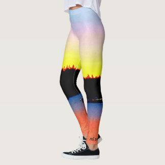 sunrise and fire leggings