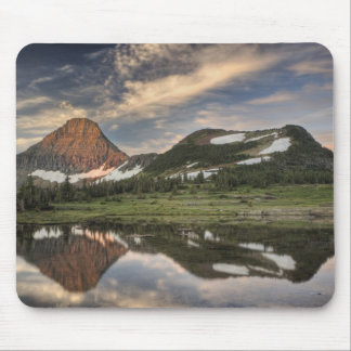Sunrise and reflection, Glacier National Park, Mouse Pad