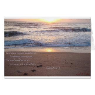 Sunrise and Sand Card