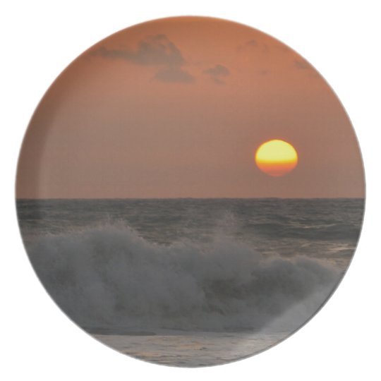 Sunrise and Waves Plate