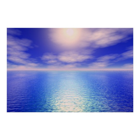 Sunrise Aquarium Background Poster