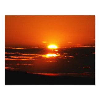 Sunrise As The Day Breaks 11 Cm X 14 Cm Invitation Card