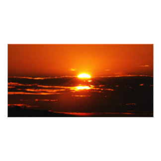 Sunrise As The Day Breaks Personalized Photo Card