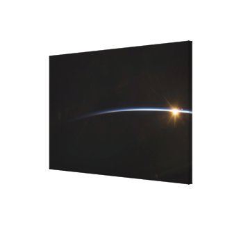 Sunrise as viewed in space canvas print