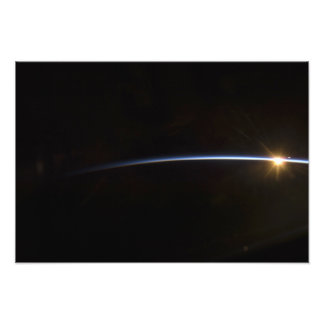 Sunrise as viewed in space photo print