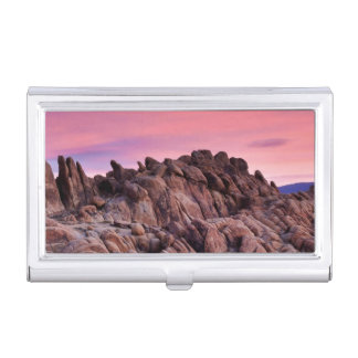 Sunrise at Alabama Hills Business Card Holder