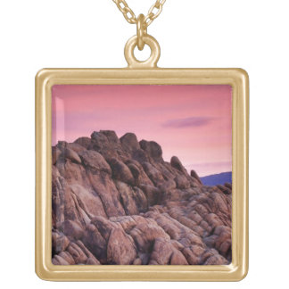 Sunrise at Alabama Hills Gold Plated Necklace