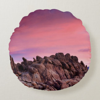 Sunrise at Alabama Hills Round Cushion