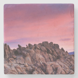 Sunrise at Alabama Hills Stone Coaster