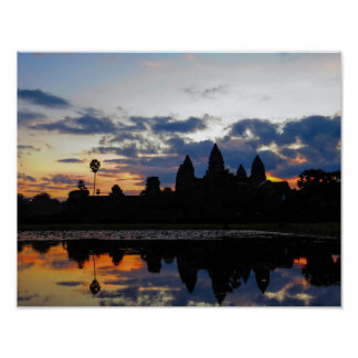 Sunrise at Angkor Wat, Cambodia - Poster