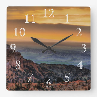 Sunrise at Bryce Canyon Square Wall Clock